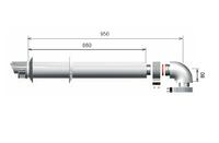 Дымоход коаксиальный Ariston (конденс.) 3318073