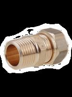 Фитинг General Fittings ниппель для медных труб 22×1/2″ из латуни. 1N0001H042200G